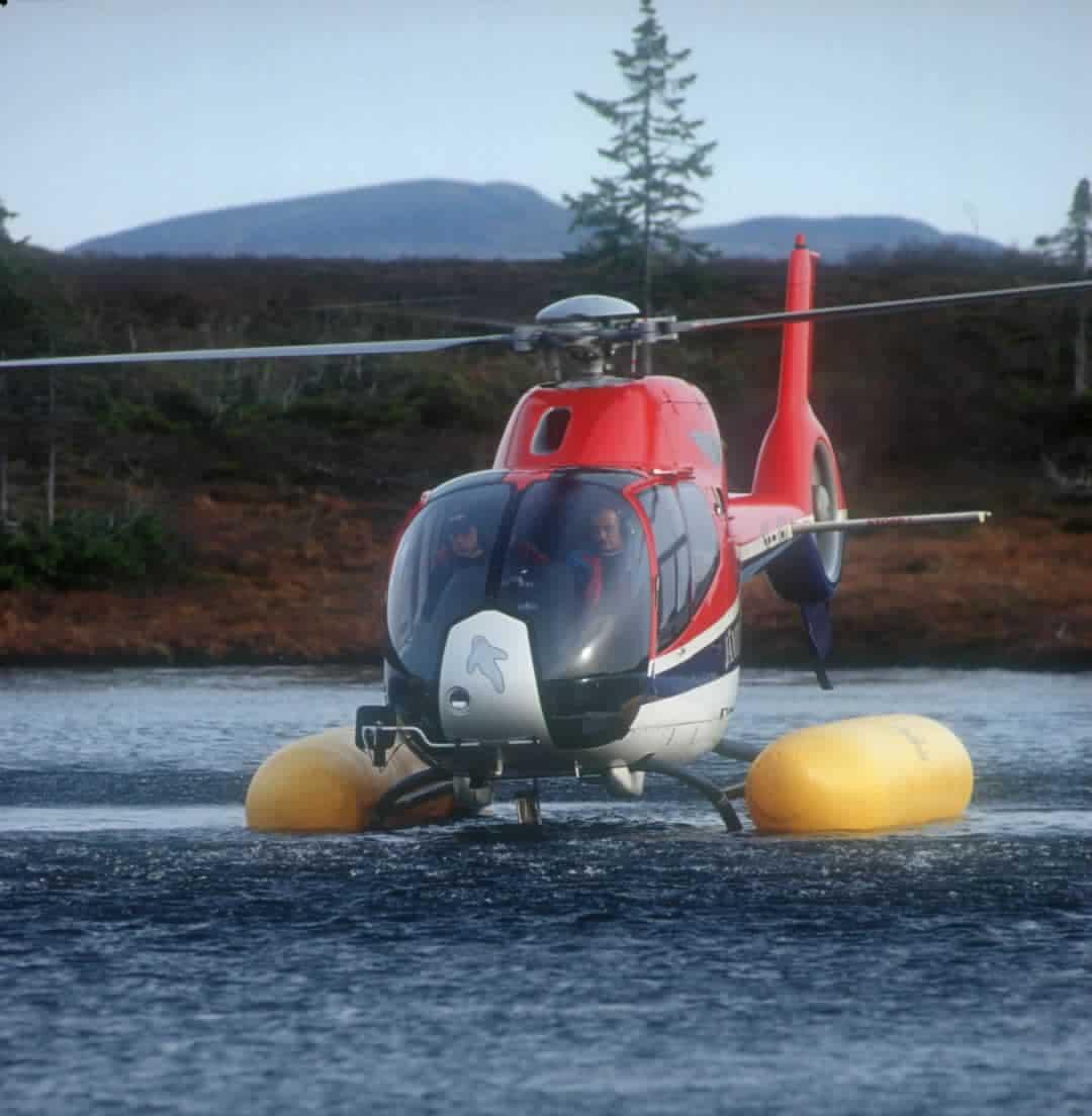 Helikopterprovtagning